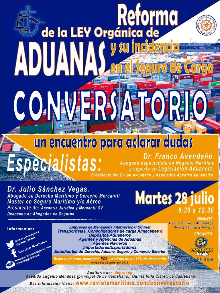 CONVERSATORIO sobre Reforma a la Ley Orgánica de Aduanas y su Incidencia en el Seguro de Carga