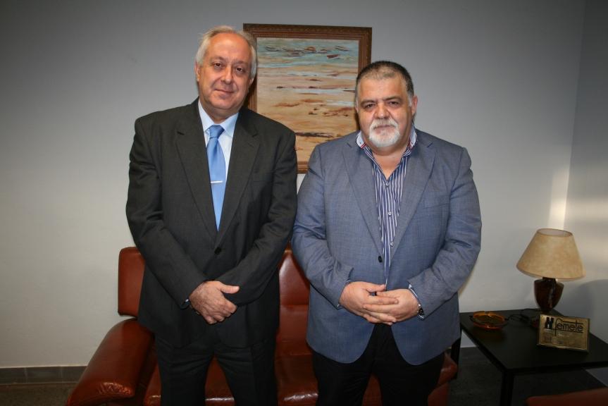 Alberto Villalobos y el Capt. Antonio M. Padrón