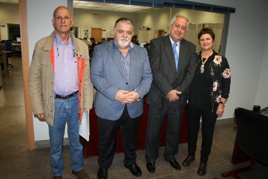 Erasmo Cabrera, Capt. Antonio M. Padrón, Alberto Villalobos y Carmen Fernández